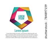 moderrn pentagonal design shape ...   Shutterstock .eps vector #784897159