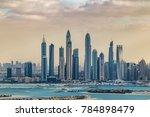 dubai marina city skyline from... | Shutterstock . vector #784898479
