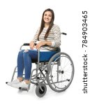 Young Woman In Wheelchair On...