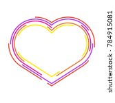 abstract heart  line design ... | Shutterstock .eps vector #784915081