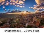 Sunset In Arachova Greece