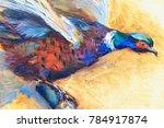 Pheasant Oil Painting ...