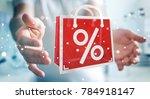 businessman on blurred... | Shutterstock . vector #784918147