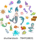 under the sea   mermaid... | Shutterstock .eps vector #784918831