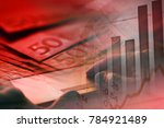 man hand on a laptop keyboard.... | Shutterstock . vector #784921489
