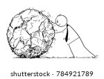 cartoon stick man drawing... | Shutterstock .eps vector #784921789