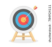 target with arrow  flat style ...   Shutterstock .eps vector #784924111
