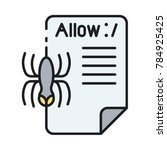 robot txt flat icon. web robots ...