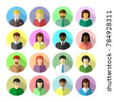 icon set of diverse business... | Shutterstock .eps vector #784928311
