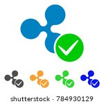 accept ripple icon. vector... | Shutterstock .eps vector #784930129