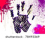 abstract hand print modern... | Shutterstock .eps vector #78493369