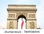 arc de triomphe in paris city ... | Shutterstock . vector #784938454