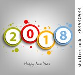 new year card with colorful... | Shutterstock .eps vector #784940944
