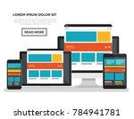 computer responsive concept... | Shutterstock .eps vector #784941781