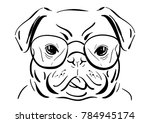 Vector Line Drawing Of Cute...