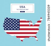 usa map flag vector illustration | Shutterstock .eps vector #784945339