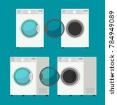 cover front washing machine... | Shutterstock .eps vector #784949089