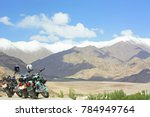 motorbikes with beautiful sky ... | Shutterstock . vector #784949764