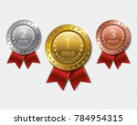 set of realistic 3d champion...   Shutterstock . vector #784954315