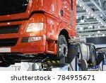 truck on a lift in a car service | Shutterstock . vector #784955671