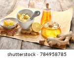 composition with honey and