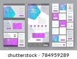 website template design with... | Shutterstock .eps vector #784959289