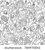 vegetable pattern background... | Shutterstock .eps vector #784970041