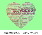 happy birthday in different... | Shutterstock .eps vector #784979884