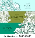 doodle handdrawn vegetables... | Shutterstock . vector #784981099