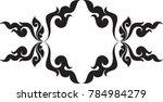 swirl doodle floral butterfly...   Shutterstock .eps vector #784984279