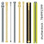 Metal And Plastic Zipper Set...