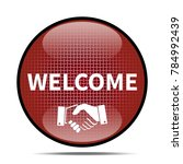 welcome icon .internet button... | Shutterstock . vector #784992439