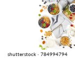 homemade granola  with dried... | Shutterstock . vector #784994794