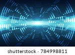 abstract vector blue technology ... | Shutterstock .eps vector #784998811