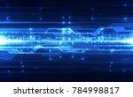abstract vector blue technology ... | Shutterstock .eps vector #784998817