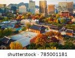 autumn of deoksugung royal... | Shutterstock . vector #785001181