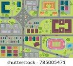 urban city top view. streets ... | Shutterstock .eps vector #785005471