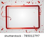 valentine's day  red white... | Shutterstock .eps vector #785012797