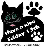 friday 13th with thick black... | Shutterstock .eps vector #785015809