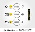 three yellow info options with...   Shutterstock .eps vector #785016307