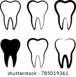 teeth icon design  medical... | Shutterstock . vector #785019361