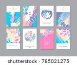 set of creative universal... | Shutterstock .eps vector #785021275