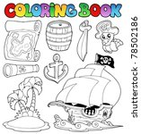 coloring book with pirate... | Shutterstock .eps vector #78502186