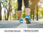 young fitness woman legs... | Shutterstock . vector #785023285