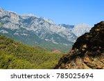 a mountain near kemer  turkey ... | Shutterstock . vector #785025694