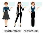 businesswoman presentation... | Shutterstock . vector #785026801