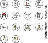 line vector icon set   traffic... | Shutterstock .eps vector #785028781