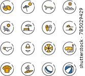 line vector icon set   coconut... | Shutterstock .eps vector #785029429