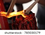 fire candle  burning stick ... | Shutterstock . vector #785030179