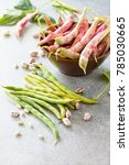 assorted pod of beans and beans.... | Shutterstock . vector #785030665